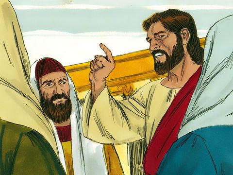 Le fils du propriétaire (Jésus) accomplit la mission que lui confie son père (Dieu) et va vers les vignerons. Mais le fils est tué et le propriétaire (Dieu) viendra se venger en faisant mourir les vignerons, les chefs religieux juifs seront rejetés.