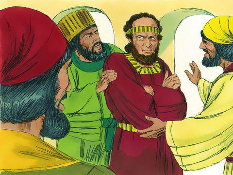 Quand Haman s'aperçoit que Mardochée ne plie pas le genou et ne se prosterne pas devant lui, sa colère est telle qu'il ne juge pas suffisant de faire tuer Mardochée seul mais il va chercher à exterminer son peuple avec lui: le peuple juif.