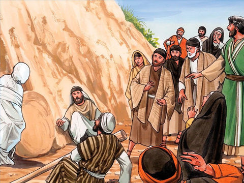 Jésus a l'esprit profondément troublé, il pleure la mort de son ami Lazare, puis il le ressuscite !