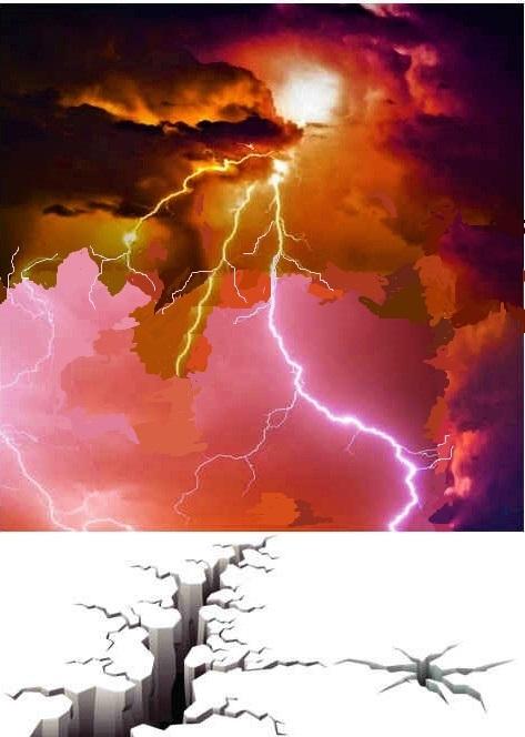 La puissance des éclairs, du tonnerre, des voix et du tremblement de terre expriment toute l'intensité de la colère dévorante de Jéhovah Dieu. Le feu de l'autel jeté sur la terre symbolise le jugement de Dieu. Voici venue l'heure du jugement de la terre.