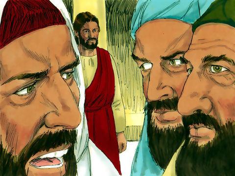 Les pharisiens, jaloux de Jésus, sont orgueilleux et ne recherchent que leur gloire et les honneurs