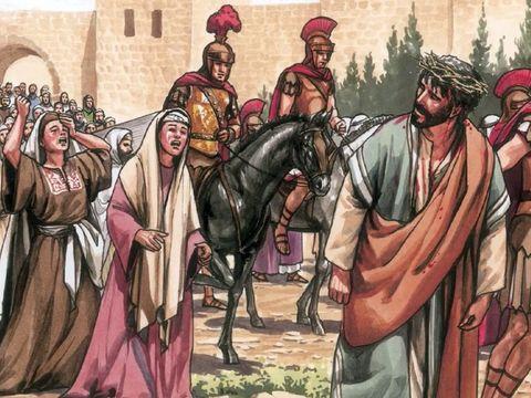 Plusieurs femmes sont restées aux côtés de Jésus. Ses apôtres, eux, l'avaient abandonné.