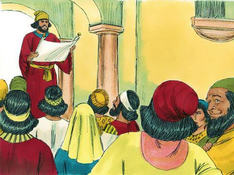 Un édit royal interdira à Vashti de se présenter devant le roi et précisera que le roi donnera le titre de reine à une autre qui soit meilleure qu'elle. Ce décret sera connu dans tout le royaume et toutes les femmes honoreront leur mari.