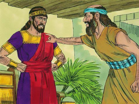 """Le prophète Zacharie dit: Parce que vous avez abandonné Yahvé, il vous abandonne."""" Ils se liguèrent alors contre lui et sur l'ordre du roi Joas de Juda le lapidèrent sur le parvis du Temple de Yahvé."""