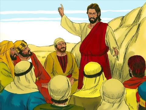 Jésus ne recherche pas la gloire mais saisit au contraire chaque occasion pour glorifier son Père. Il explique que son enseignement ne vient pas de lui mais de Celui qui l'a envoyé. Jésus a clairement dit que son Père est plus grand que lui.