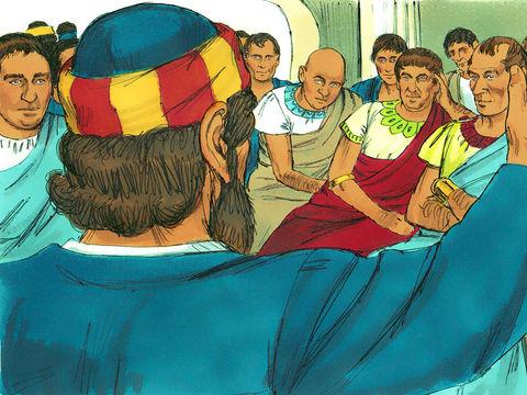 Pierre est encore à son discours lorsque l'Esprit Saint tombe sur tous ceux qui écoutent la Parole. Et les fidèles de la circoncision, tous ceux qui sont venus avec Pierre, s'étonnent de ce que le don du Saint Esprit était répandu aussi sur les nations.