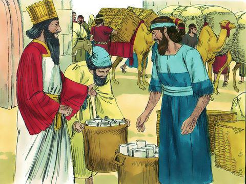 Esdras, un scribe et prêtre, est désigné en toute confiance par le roi Artaxerxes Ier pour accompagner un groupe de Juifs restés à Babylone et inspecter Juda et Jérusalem d'après la loi de Jéhovah. Il emporte avec lui une grande quantité d'or et d'argent.