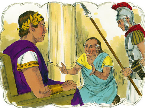 'Méchant serviteur, je t'avais remis en entier ta dette parce que tu m'en avais supplié. Ne devais-tu pas, toi aussi, avoir pitié de ton compagnon comme j'ai eu pitié de toi?'