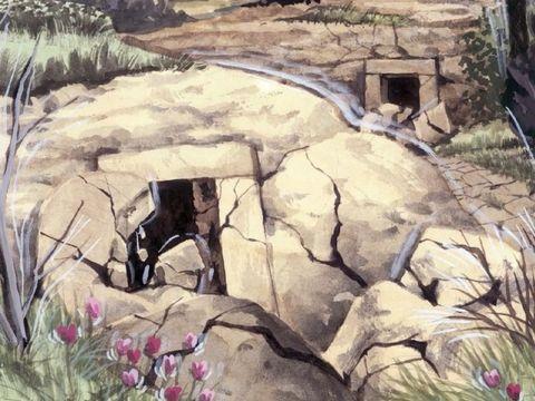 A ce moment-là, il y eut un grand tremblement de terre et le dixième de la ville s'écroula: 7000 hommes furent tués dans ce tremblement de terre; les autres furent effrayés et rendirent gloire au Dieu du ciel.