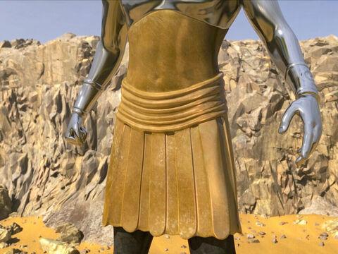 Le ventre et les cuisses de la statue géante reçue dans une vision prophétique par Nébucadnetsar de la part de Dieu représente la Grèce, moins prestigieuse que Babylone et l'Empire médo-perse.