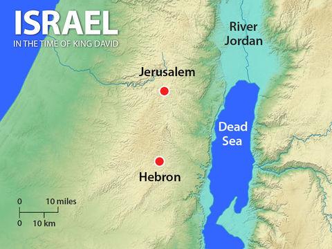 Quand le roi David s'empare de la ville de Jérusalem qui appartient alors aux Jébusiens, il en fait sa capitale. Jérusalem devient « la ville de David ». Après avoir régné 7 ans à Hébron, il règnera encore 33 ans à Jérusalem.