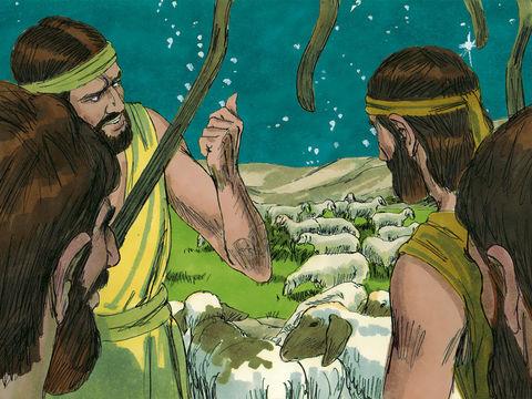 Des anges étaient présents à Bethléem pour la naissance de Jésus-Christ. Ils s'adressent aux bergers qui passaient la nuit dans les champs pour y garder leur troupeau.