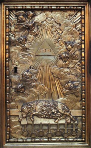 Tétragramme du Nom divin YHWH en hébreu dans un monument de Paris: La Sorbonne