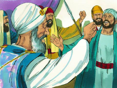 En l'an 33, Etienne, entouré de Juifs haineux, reçoit une vision : Jésus debout à la droite de Dieu. Etienne était un fidèle serviteur de Dieu.