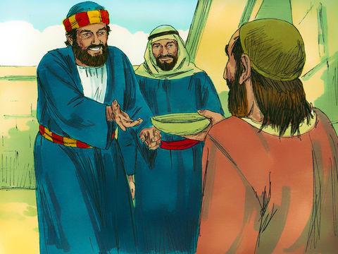 Pierre vient de guérir miraculeusement un homme boiteux de naissance qui vivait d'aumône. Il lui a en effet suffit de déclarer : « au nom de Jésus-Christ de Nazareth, [lève-toi et] marche! ».