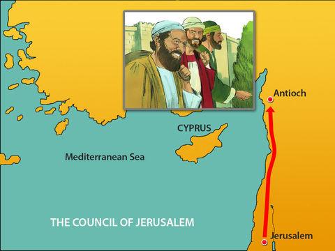 En passant par les villes, ils recommandaient aux frères d'observer les décisions des apôtres et des anciens de Jérusalem.