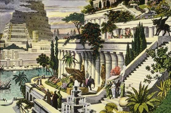 Babylone surnommée ville mythique, ville des dieux, merveille du monde. Babylone, ville prestigieuse, est un symbole de beauté et ses jardins suspendus font partie des merveilles du monde.