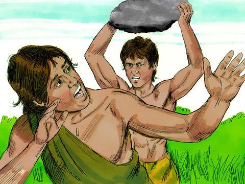 Caïn tue son frère Abel par jalousie