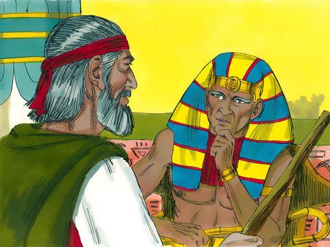 Afin de briser l'orgueil du pharaon et humilier les dieux d'Egypte, Jéhovah Dieu envoie 10 plaies au travers de Moïse et son frère Aaron. La 8ème plaie consiste en une invasion de sauterelles apportées par le vent qui vont dévorer toute la végétation.