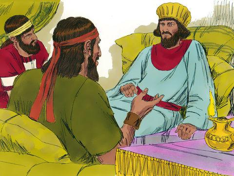 Durant le mois de Kisleu (novembre-décembre), la vingtième année du règne d'Artaxerxès, Néhémie reçoit de tristes nouvelles par son frère revenu de Jérusalem, les murailles sont pleines de brèches et ses portes ont été réduites en cendres. Néhémie pleure.