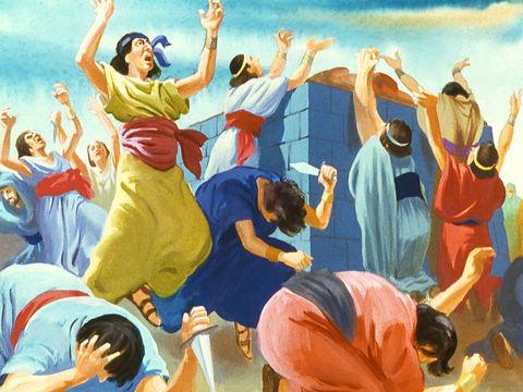 La sècheresse prend fin après la mise à mort des 450 prophètes de Baal ordonnée par le prophète Elie au mont Carmel. Les prières et incantations et incisions n'ont servi à rien. Leur dieu Baal est resté silencieux.
