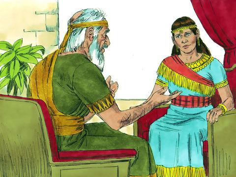 Adonijah, fils de David, complote afin de prendre le pouvoir et succéder à son père alors que le trône est promis à Salomon. Il s'autoproclame roi sans que son père le sache. Le prophète Nathan demande à Bath-Shéba de rappeler à David sa promesse.