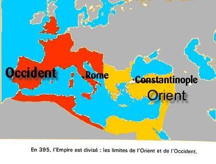 En 380, l'empereur Théodose 1er se fait baptiser chrétien. Il se place en tant qu'autorité religieuse.  Le 27 février 380, il promulgue l'édit de Thessalonique  qui impose le christianisme dans l'Empire et la croyance en une Trinité. Il partage l'Empire.
