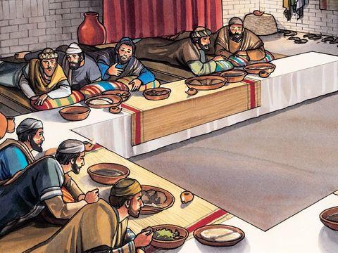 Juste avant sa mort, lors du repas pascal le 14 Nisan, Jésus a institué une célébration extrêmement importante pour les chrétiens : la commémoration de sa mort qui devait désormais remplacer la célébration de la Pâque juive.