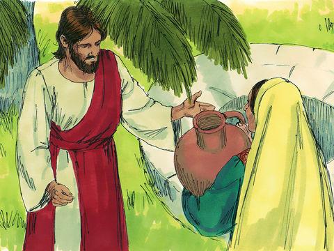 Jean 4 : 14 : « En revanche, celui qui boira de l'eau que je lui donnerai n'aura plus jamais soif et l'eau que je lui donnerai deviendra en lui une source d'eau qui jaillira jusque dans la vie éternelle.»