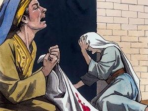 Hérode se met dans une grande colère et envoie tuer tous les enfants de 2 ans et au-dessous qui étaient à Bethléhem et dans tout son territoire, selon la date qu'il s'était fait préciser par les mages. Alors s'accomplit les paroles du prophète Jérémie.