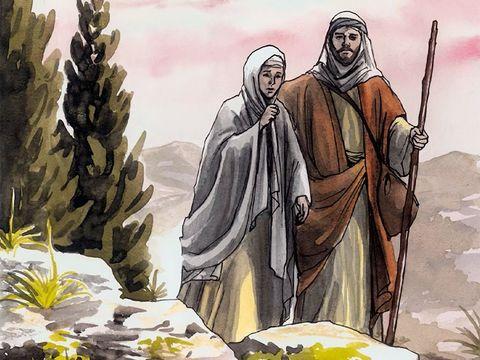 Marie et Joseph recherchent Jésus qui est resté à Jérusalem au lieu de les suivre. Ils le retrouvent au bout de 3 jours au Temple.