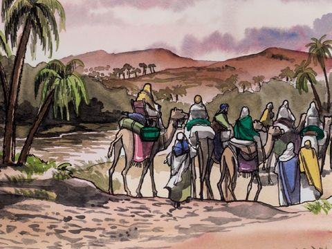 Puis ils sont avertis dans un rêve de ne pas retourner vers Hérode. Ils repartent donc dans leur pays par un autre chemin