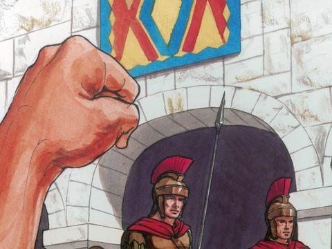 Les chefs religieux juifs insistent à grands cris afin de mettre à mort. Pilate livre donc Jésus à leur volonté.