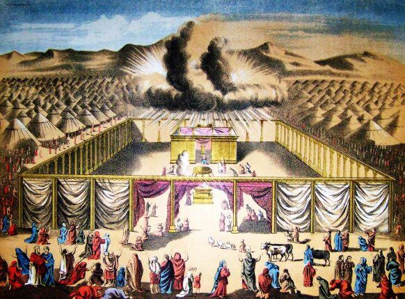 Les Israélites ne lèvent le camp que lorsque la nuée de Jéhovah, même visible la nuit, s'élève au-dessus du Tabernacle.
