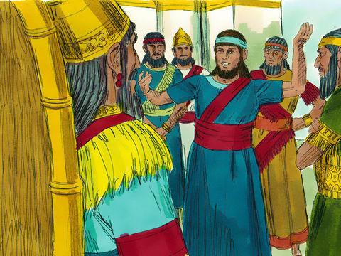 Daniel demande à Dieu de l'aider à interpréter le rêve du roi Nébucadnetsar, Dieu lui accorde de pouvoir raconter et interpréter le rêve du roi
