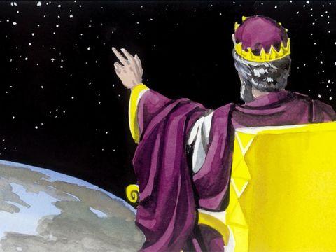 Daniel assiste à l'intronisation de Jésus en tant que Roi céleste du Royaume de Dieu. Alors on verra le Fils de l'homme venir sur une nuée avec beaucoup de puissance et de gloire. Le royaume du monde est remis à notre Messie et il régnera éternellement.