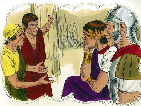 A la vue de ce qui était arrivé, ses compagnons furent profondément attristés, et ils allèrent raconter à leur maître tout ce qui s'était passé. Alors le maître fit appeler ce serviteur.