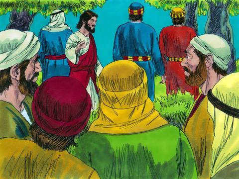 Ils arrivèrent en un lieu appelé Gethsémané. Jésus dit à ses disciples : Asseyez-vous ici pendant que je vais prier.  Il prit avec lui Pierre, Jacques et Jean. Il commença à être envahi par la crainte, et l'angoisse le saisit.