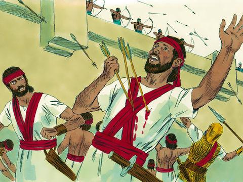 Le roi David commet l'adultère avec Bathshéba, puis elle tombe enceinte. Pour cacher son adultère, il fait tuer son mari au cours d'une bataille. Il commet donc un meurtre.