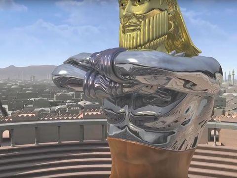 Les deux bras de la statue symbolisent la double puissance médo-perse. L'argent est aussi un métal précieux mais moins prestigieux que l'or. L'Empire médo-perse n'égalera pas la renommée de Babylone. Le conquérant est Cyrus le Perse ou Cyrus II le grand.
