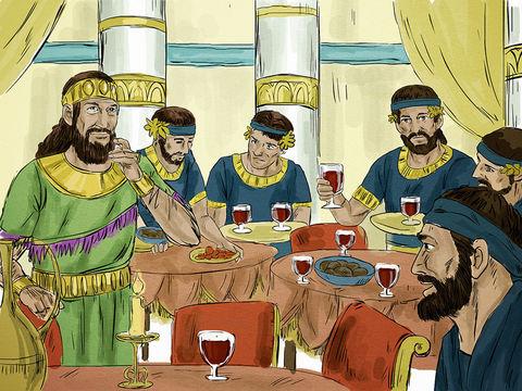 Parabole de l'invité au mariage royal de Jésus, il faut choisir la dernière place pour être élevé par la suite.