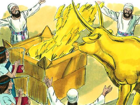 Salomon, au début pourtant plein de sagesse, se met à adorer les idoles de ses épouses. Dieu décide donc de lui arracher le royaume. Les Israélites sont souvent tombés dans l'idolâtrie en adorant les idoles des peuples voisins.