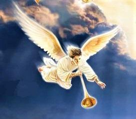 7 trompettes ont été données à 7 anges se tenant devant Dieu (Ap 8:2). Chaque sonnerie de trompette donne lieu à de grands bouleversements. A la première sonnerie de trompette, de la grêle et du feu mêlés de sang s'abattent sur la terre.