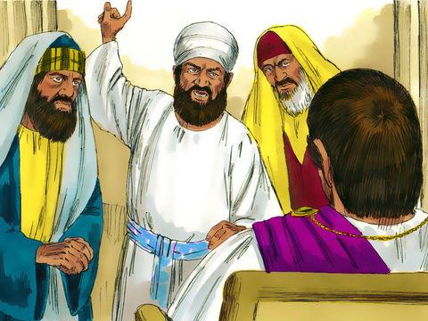 Les pharisiens veulent faire tuer Jésus. Ponce Pilate comprends que les pharisiens sont jaloux de Jésus. Jésus comparait devant le gouverneur Pilate qui comprend que les chefs des prêtres l'ont fait arrêter par jalousie.