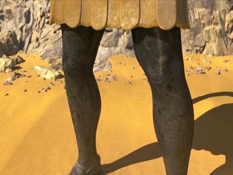 Daniel 2 : 33, 40 : « 33 ses jambes en fer. 40 Il y aura un quatrième royaume, solide comme du fer. En effet, le fer pulvérise et écrase tout. Tout comme le fer brise tout, il pulvérisera et écrasera les autres.»