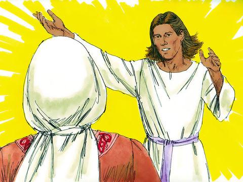 Un ange vient annoncer à la femme stérile de Manoach qu'elle va mettre au monde un fils : Samson qui va délivrer Israël de la domination des Philistins.