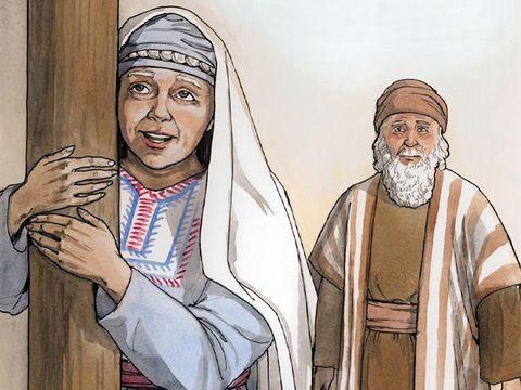 Luc 1 : 24-25: « 24 Quelque temps après, sa femme Elisabeth fut enceinte. Elle se cacha pendant cinq mois, disant: 25 «C'est l'œuvre que le Seigneur a faite quand il a porté le regard sur moi pour enlever ce qui faisait ma honte parmi les hommes.