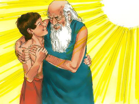 L'Ange a arrêté la main d'Abraham, l'empêchant ainsi de sacrifier Isaac. Abraham a démontré son obéissance.