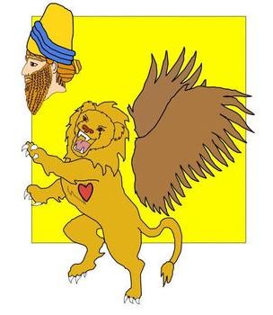 L'Empire babylonien lui-même est représenté par un lion ailé dans la vision de Daniel reçue la première année du règne de Belshatsar, en 553 av J-C (40 ans après la vision d'Ézéchiel) et décrivant la succession des puissances mondiales.