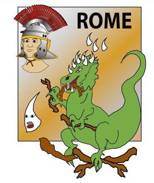 L'empire romain avec ses armées invincibles est représenté par une bête terrible aux dents de fer qui broie tout sur son passage, dans la prophétie de Daniel.